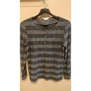 Lacsote Henley Knit Top